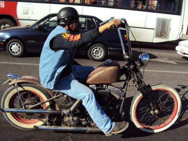 old skool motorcycle